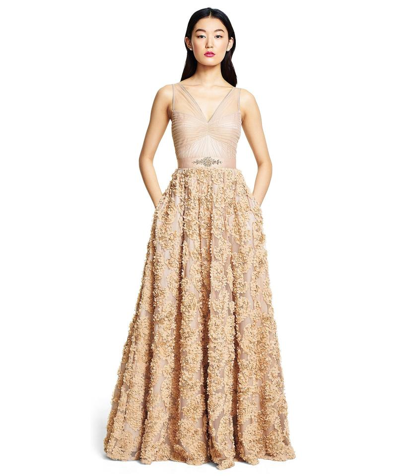Adrianna Papell Doe Rosette Tulle Embellished Petal Ballgown Long ...