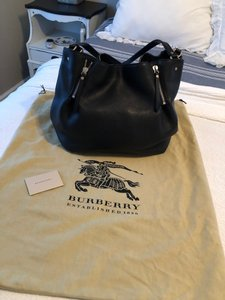 Burberry Leather Pebble Tote Shoulder Bag