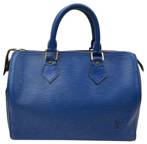Louis Vuitton Speedy Satchel in blue