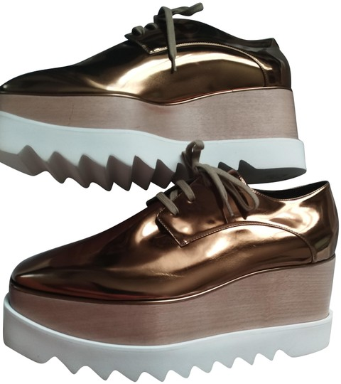 Preload https://img-static.tradesy.com/item/23525315/stella-mccartney-bronze-golden-copper-white-new-elyse-faux-leather-platform-sneakers-size-eu-41-appr-0-5-540-540.jpg
