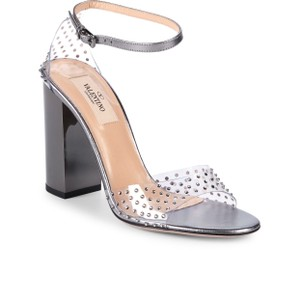 Valentino clear pvc/silver Sandals
