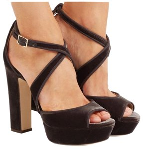 Jimmy Choo Dark Grey Platforms