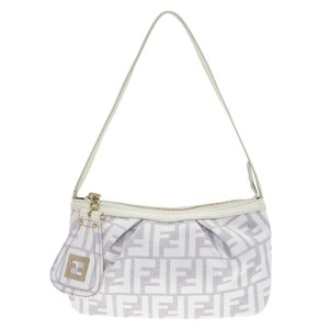 Fendi Monogram Leather Satchel in Beige