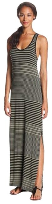 Item - Safari Green & Black Adobe Stripe Long Casual Maxi Dress Size 2 (XS)