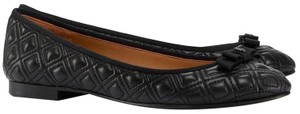Tory Burch Marion Quilted Ballet Work Black Flats