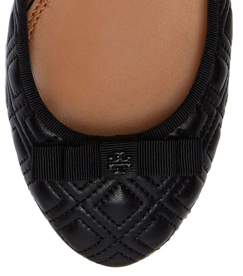 e9dd7d2e0ff Tory Burch Marion Quilted Ballet Work Black Flats Image 11. 123456789101112