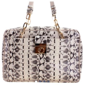 Versace Satchel in white and black