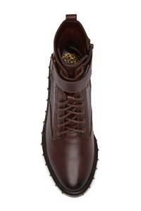 Vince Camuto Combat Studded Leather BROWN 02 Boots