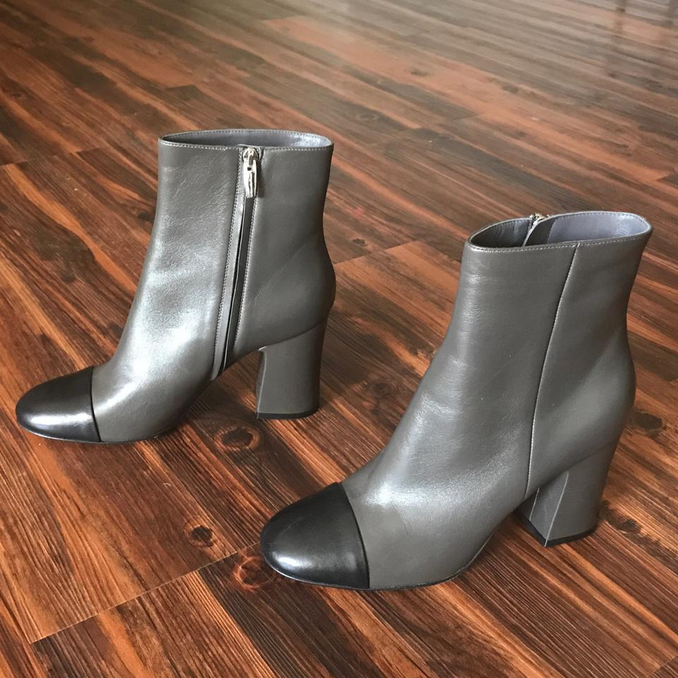 997976a4f2d Gianvito Rossi Black New Mianela Gray Cap Toe Ankle Boots/Booties Size EU  39.5 (Approx. US 9.5) Regular (M, B) 65% off retail