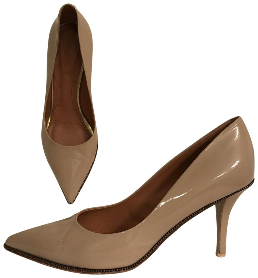 Givenchy Beige Patent Leather Pointed Toe Pumps Size US 8 Regular (M ...