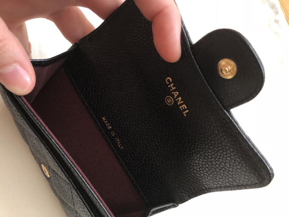 Chanel black caviar business card holder wallet tradesy chanel black caviar business card holder wallet reheart Choice Image