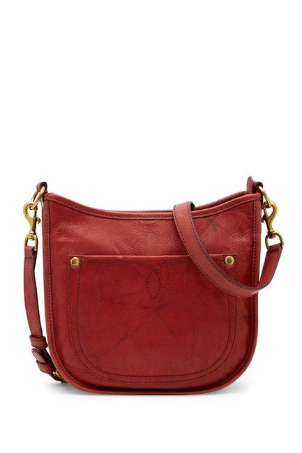 Item - Campus Burndt Red Leather Cross Body Bag