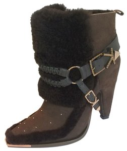 2c1d9cca0253 Ivy Kirzhner Shearling Leather Rose Gold Olive brown Boots