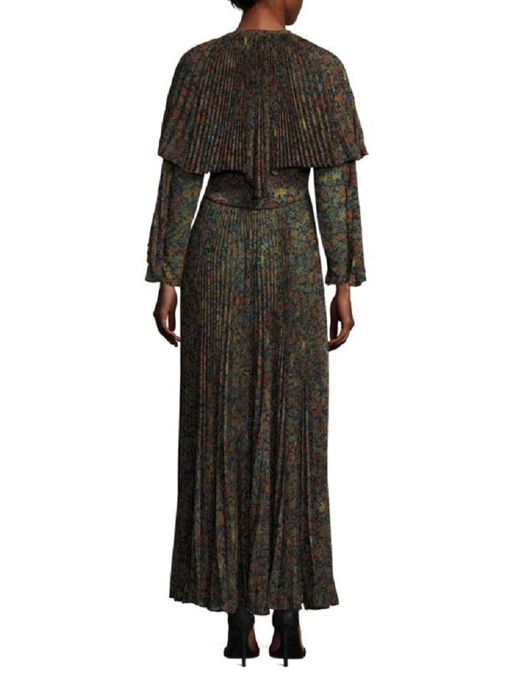 timeless design d6208 f5026 Etro Multi Color Pleated Cape Maxi Long Formal Dress Size 6 (S) 88% off  retail