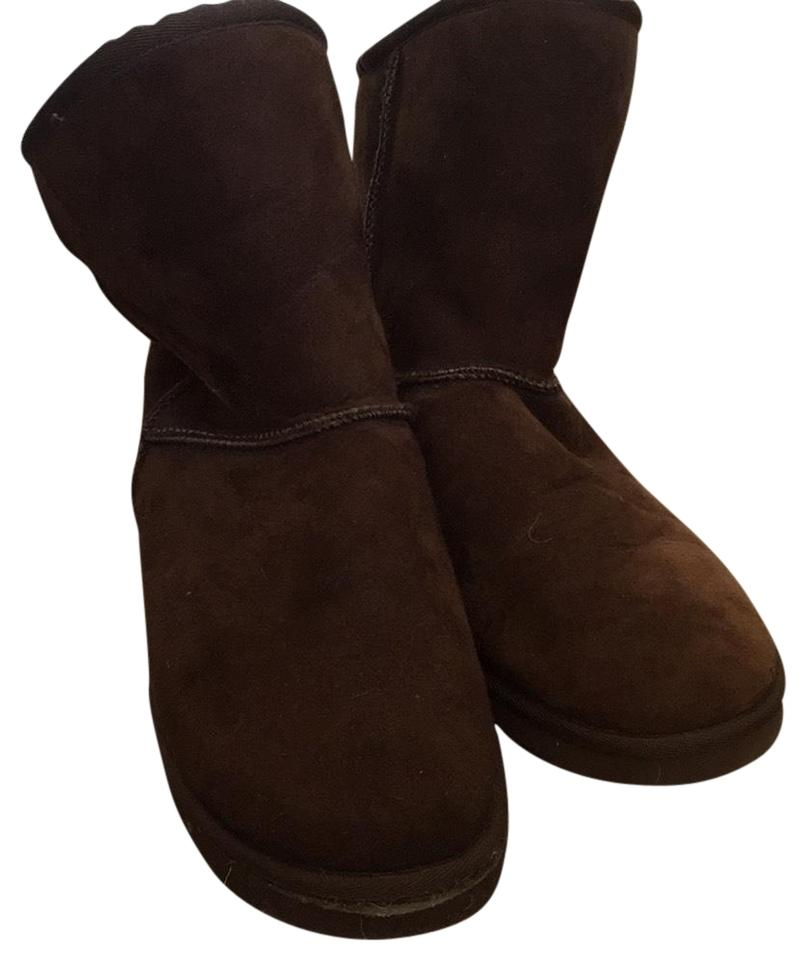 6b00c48e59d Australia Luxe Collective Brown Cozy Lux Slippers Boots Booties Size ...