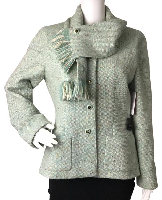 Item - Green 42 Tweed with Removable Scarf Blazer Size 6 (S)