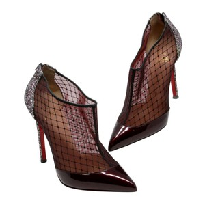 Christian Louboutin So Kate Pigalle Swarvoski Crystals Very Prive Yoyo Multicolor Burgundy Boots