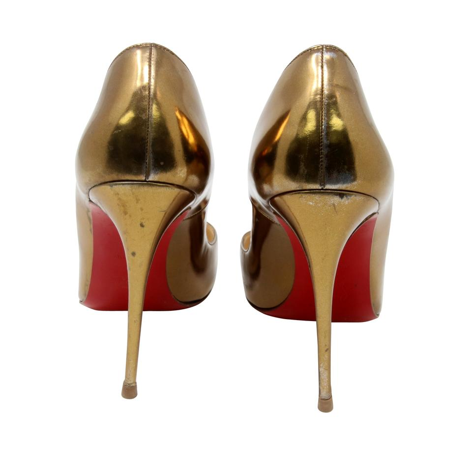 6f98d622f31 Christian Louboutin Gold Classic Metallic So Kate Mirrored Leather Red  Pumps Size US 10 Regular (M, B) 70% off retail