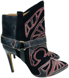 Isabel Marant Western Embroidered Black Boots