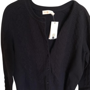 Tory Burch Navy New Cable-knit Button Down Sweater