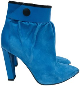 Balenciaga Gathered Ankle Electric Blue Boots