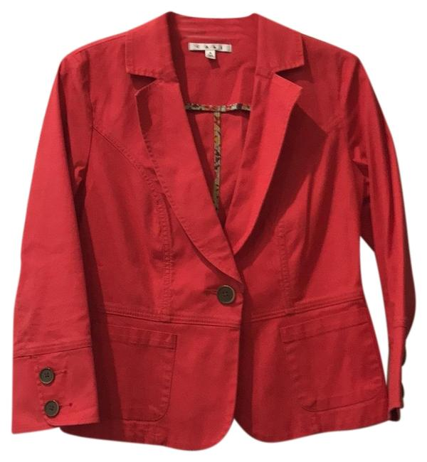 Item - Red Toss On Jacket Size 4 (S)