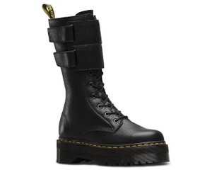 Dr. Martens Zip Leather Rare BLACK Boots