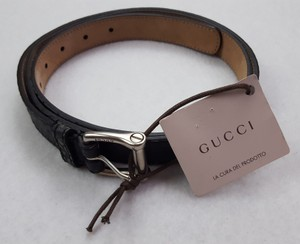 Gucci Black New Belt Mens Distressed Size 46 Tagged Italy Msrp Groomsman Gift