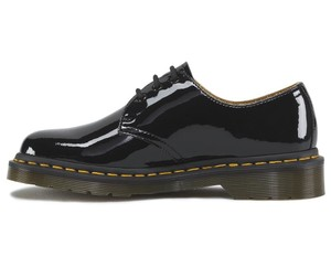 Dr. Martens Patent Leather Vinta Lace Up Black Flats