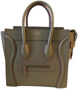 Céline Tote in Taupe/Pink