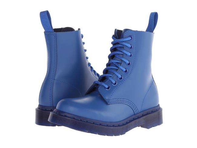 Item - Blue Pascal Mono Smooth Boots/Booties Size US 8 Regular (M, B)