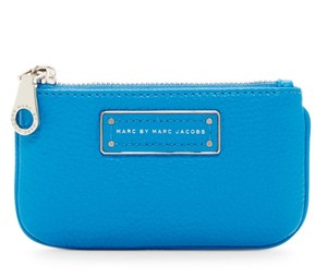 Marc by Marc Jacobs Too Hot To Handle Leather Key Pouch Wallet 889732588259 Wristlet in Aquamarine