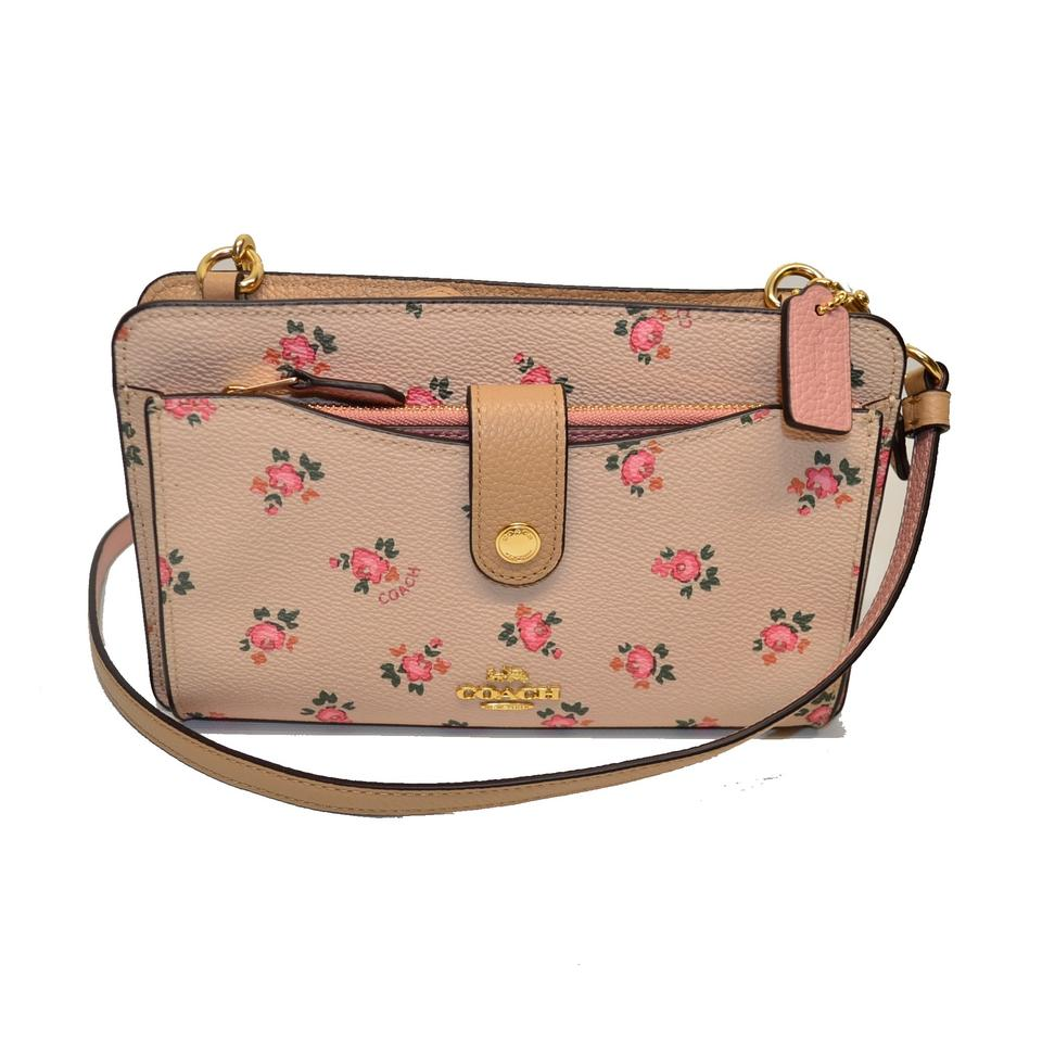 modern design newest collection official images Coach Messenger Floral Bloom Pop Up Beechwood Embossed Leather Cross Body  Bag 21% off retail