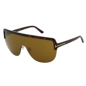 Tom Ford New 2018 Tf Angus-02 Ft-560 Sporty Shield Straight Brow Sunglasses