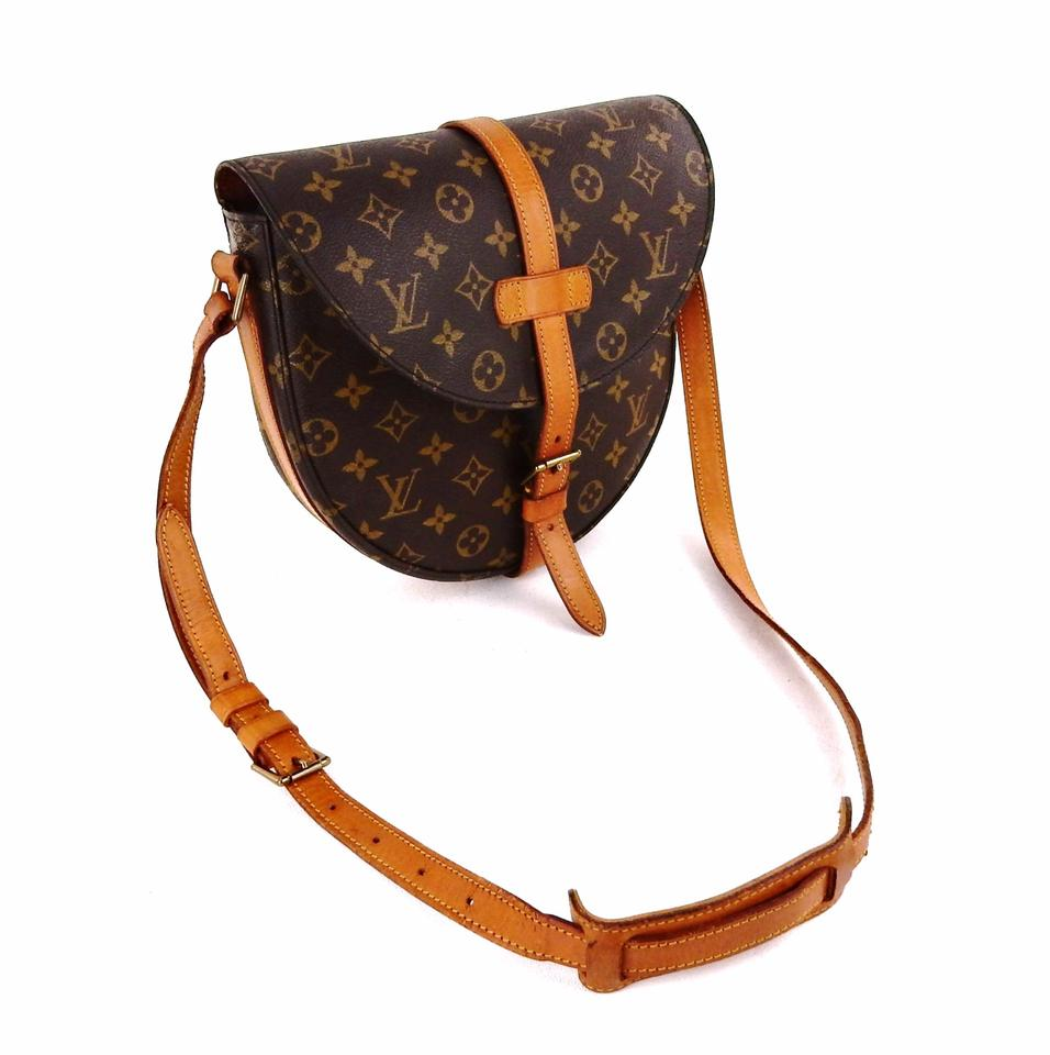 louis vuitton chantilly vintage gm shoulder brown monogram canvas leather cross body bag tradesy. Black Bedroom Furniture Sets. Home Design Ideas