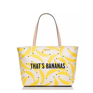 Kate Spade Tote in Yellow & White