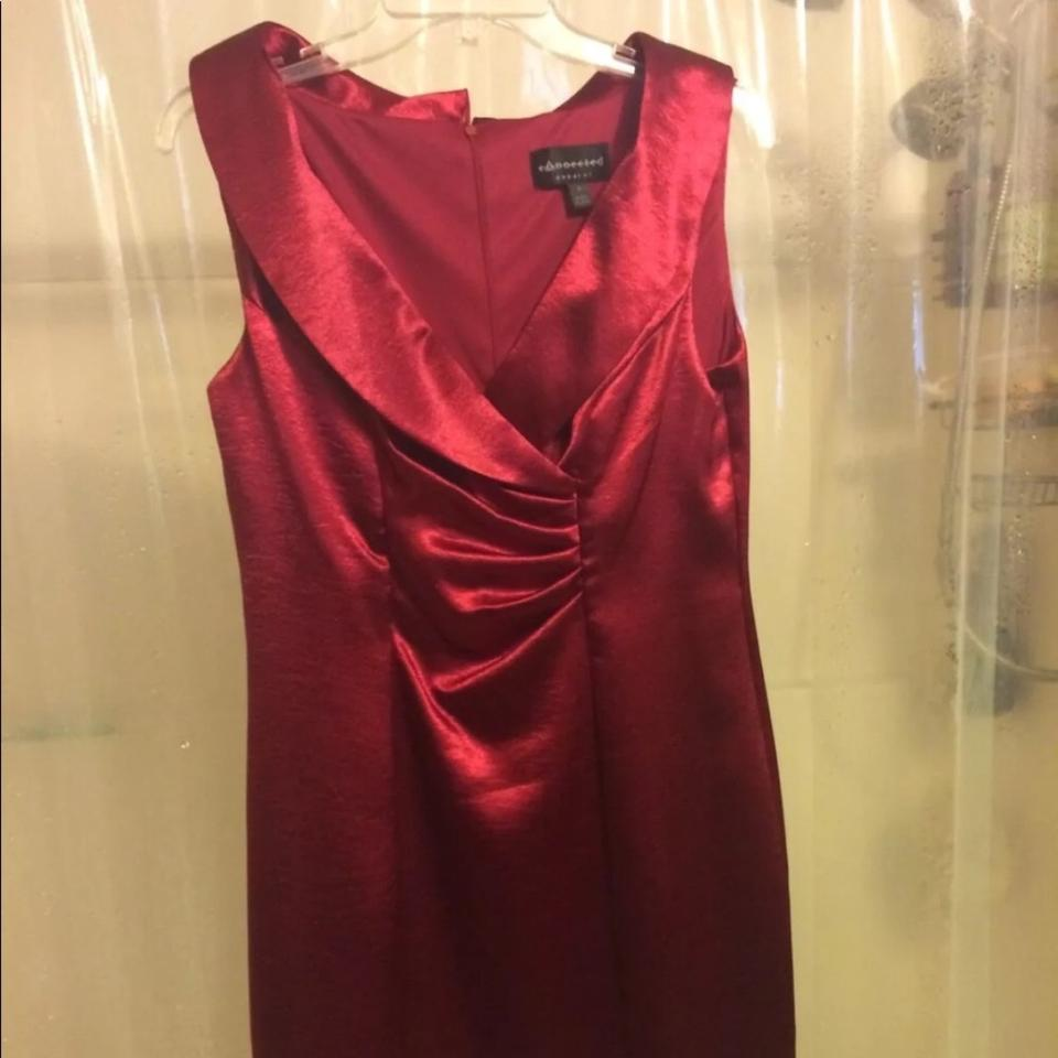 97b594679a3e Connected Apparel Burgundy Mid-length Cocktail Dress Size 8 (M) - Tradesy