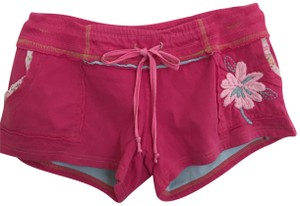 Raviya Cotton Cutoff Hotpant Mini/Short Shorts Hot pink