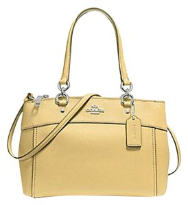Coach Carryall 34797 36704 Christie Satchel in vanilla yellow