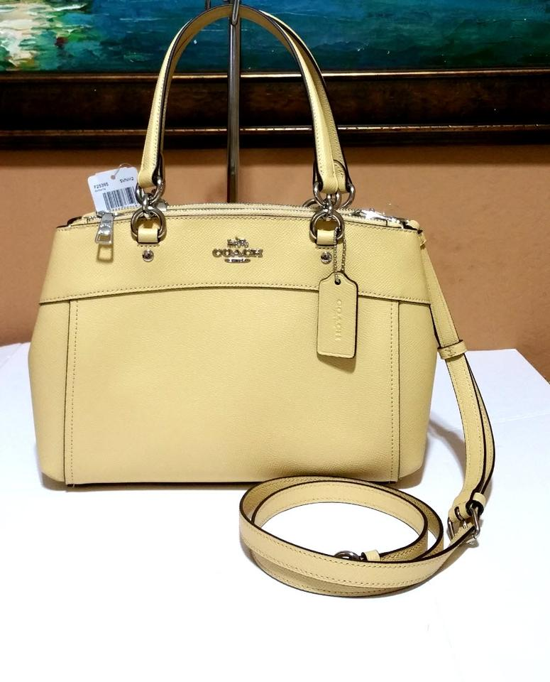2f6bb0c68956 Coach Christie Mini Brooke Carryall F25928 57523 Yellow Leather ...