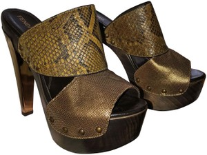Fendi gold bronze brown Mules