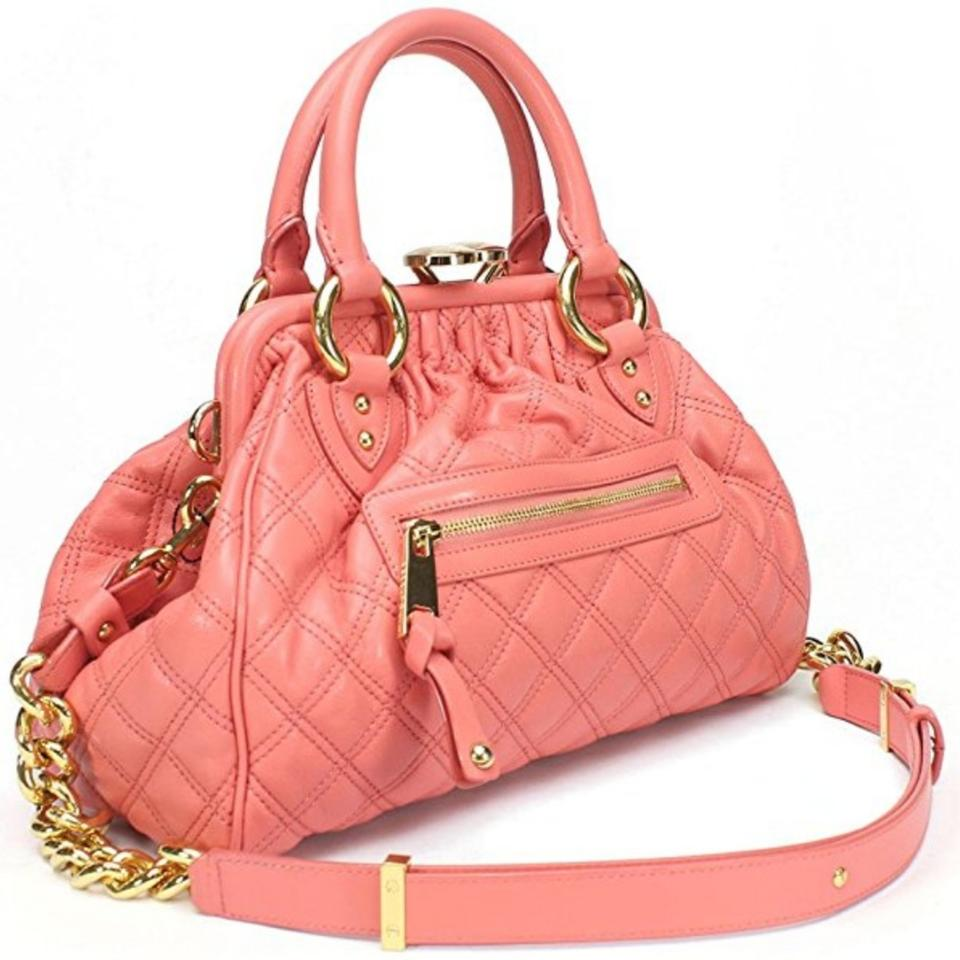 9c4ddce12 Marc Jacobs Quilted Stam Pink Lambskin Leather Satchel - Tradesy