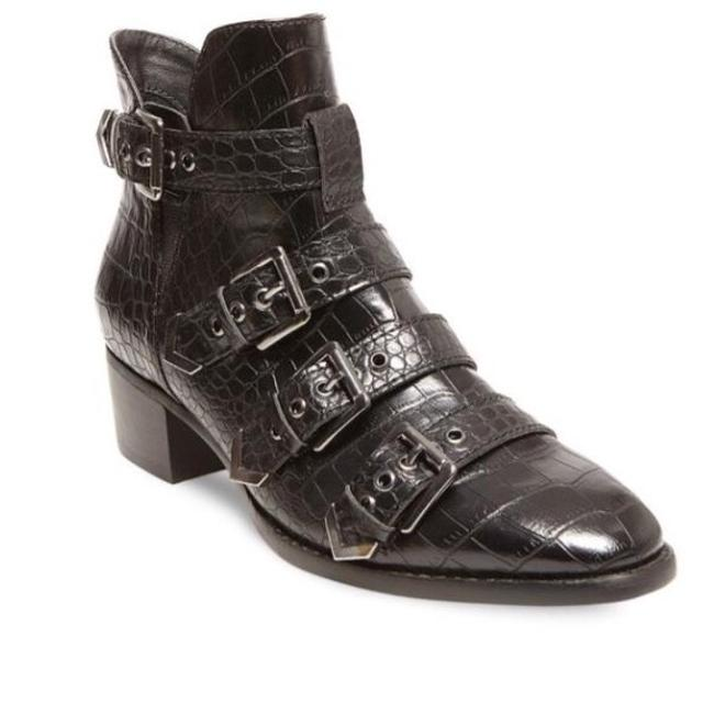 Item - Black Farr Embossed Buckle By Boots/Booties Size US 9 Regular (M, B)