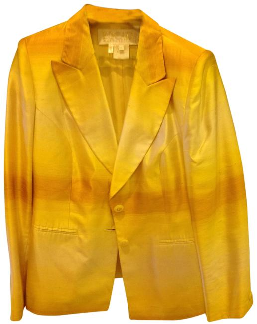 Item - Yellow Classic Fitted That You Can Dress-up Or Dress-down Jacket Size 10 (M)