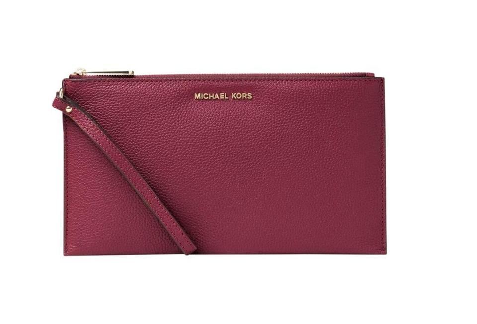 c5272de65c7f Michael Kors 35t5gaym3c Mercer Travel Pouch Bedford Wristlet in red Image 0  ...