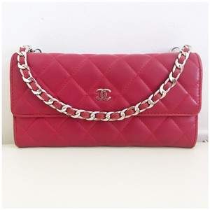 31fb41c7811d Chanel Red Clutch - item med img. Chanel. Classic Flap Wallet with Chain  Added ...