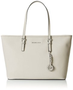 Michael Kors Mk Travel Multifunctional Saffiano Leather Tote in Cement Light Grey
