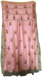 Tracy Reese Embroidered Skirt pink/gold