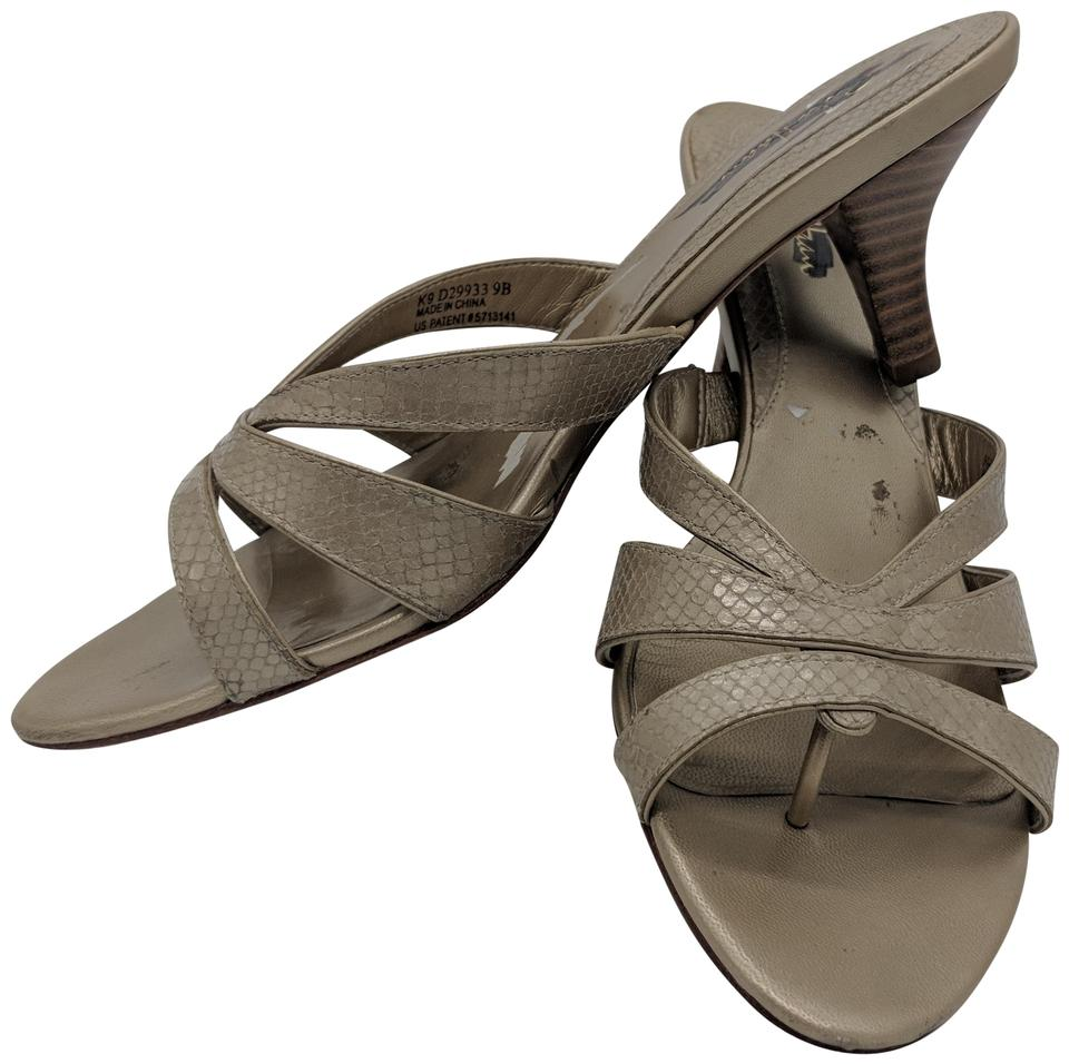 6f21caa88249 Cole Haan Thong Stacked Heel Leather Casual Beige Sandals ...