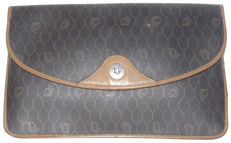 Dior Rare Shape Style Mint Vintage Edgy Avant Garde Clutch Cosmetic shades  of grey ... be470079c7